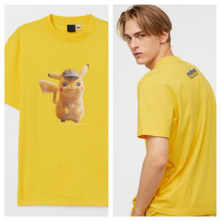 H&M - 【H&M】新作&新品 ⚡️ 名探偵 ピカチュウ Tシャツ Lサイズ