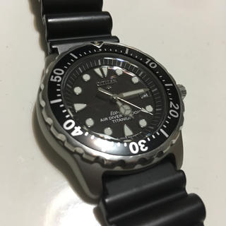 シチズン(CITIZEN)のCITIZEN エコドライブ Air diver.s 200m チタン製(腕時計(アナログ))