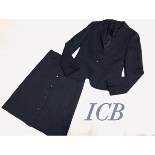 ICB - (38)ICB❤︎ウール100%❤︎ダークグレー  スカートスーツ