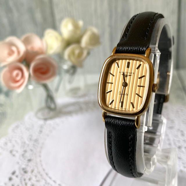 LONGINES - 【電池交換済み】LONGINES ロンジン 腕時計 スクエア ゴールドの通販