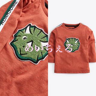 ネクスト(NEXT)の【新品】next ラスト 長袖恐竜柄ブークレTシャツ(ヤンガー)(シャツ/カットソー)