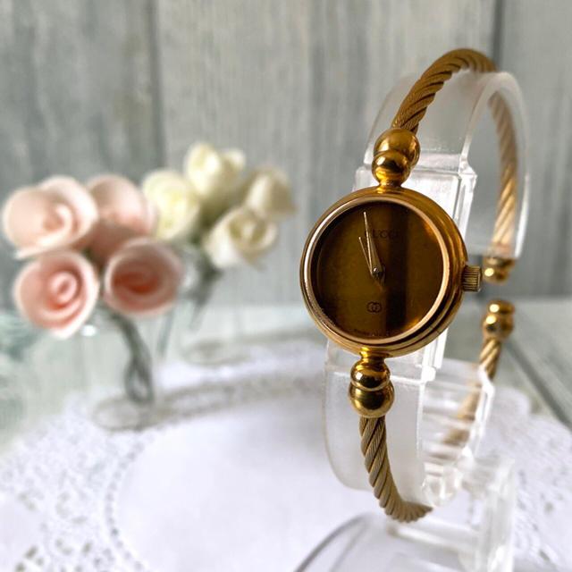 Gucci - 【電池交換済み】GUCCI グッチ 2047L 腕時計 ブラウン ゴールドの通販
