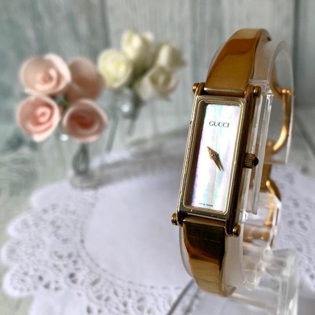 Gucci - 【電池交換済み】GUCCI グッチ 1500L シェル 腕時計 レクタンギュラの通販