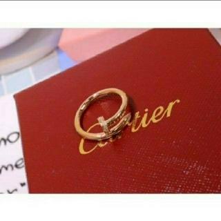 カルティエ(Cartier)のカルティエ ジュストアンクル WG ダイヤ 14号 リング(リング(指輪))