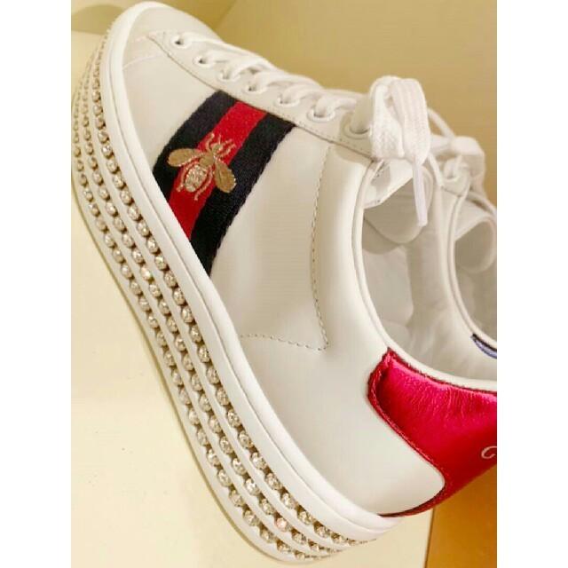 Gucci(グッチ)のGUCCI スニーカー 24 レディースの靴/シューズ(スニーカー)の商品写真