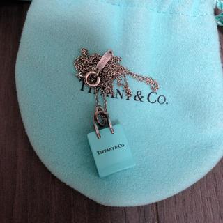 Tiffany & Co. - ショッピングバッグチャーム&チェーンネックレス