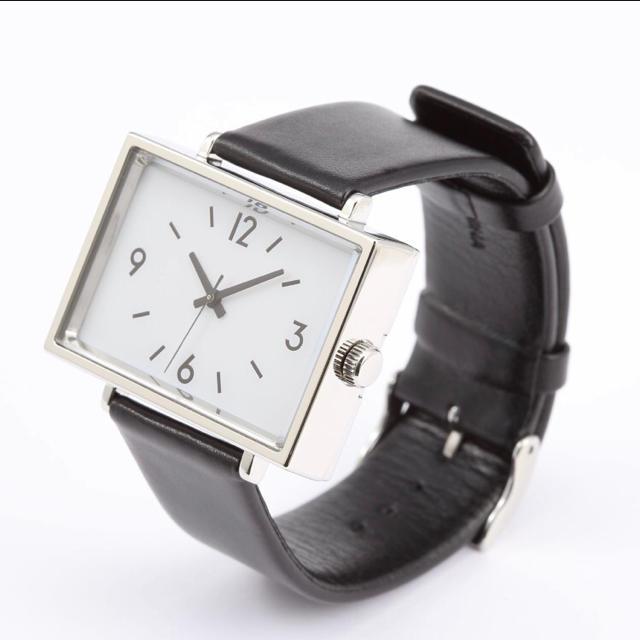 MUJI (無印良品) - 新品★無印良品★腕時計・駅の時計 黒革 MJ‐SCW1 レディース  メンズ★の通販