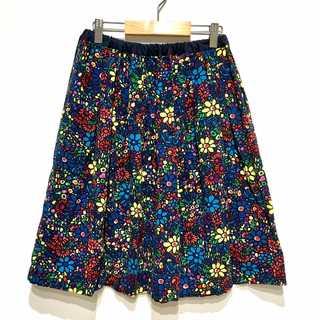 極美品 Bohemians ボヘミアンズ モザイクフラワー 花柄スカート(ひざ丈スカート)