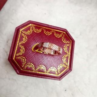 カルティエ(Cartier)の人気美品 Cartier リング指輪 7号 ピンクゴルード 18K(リング(指輪))