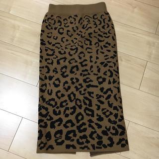 アナップ(ANAP)のANAP レオパード柄タイトスカート 新品(ロングスカート)
