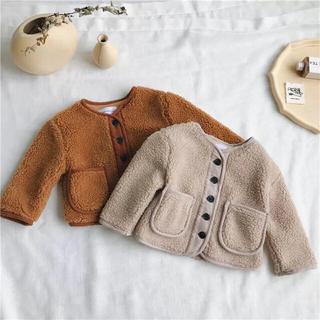 13(120-130)◆新品もこもこフリースボアジャケットコートキッズ韓国子供服