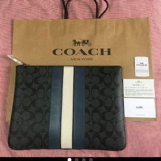 COACH - (新品未使用)メンズ COACH コーチ クラッチバッグ
