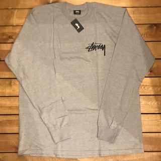 ステューシー(STUSSY)の新品 STUSSY ステューシー グレー ロンT ストック XL サイズ(Tシャツ/カットソー(七分/長袖))