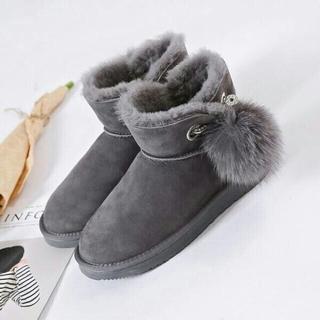 アグ(UGG)のクラシックブーツ AUSNOWUGG グレー 25cm(ブーツ)