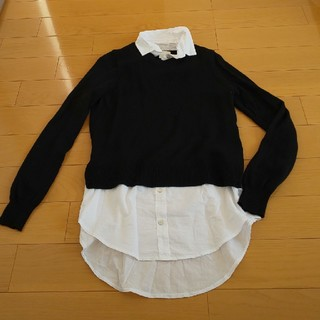 エイチアンドエム(H&M)のシャツ付きセーター(ニット/セーター)