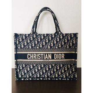Christian Dior - 美品 ディオール 千鳥柄 ブックトート スモールサイズ