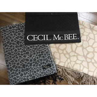 セシルマクビー(CECIL McBEE)のCECIL Mc BEE ストール アニマル柄 (ストール/パシュミナ)