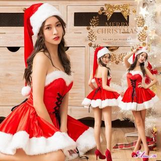 s039コスプレ コスチューム クリスマス♡ サンタワンピース 赤