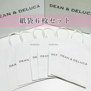 DEAN & DELUCA - DEAN&DELUCA紙袋6枚セット ショッパー ショップ袋ショッピングバッグ白