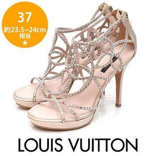 LOUIS VUITTON - 美品❤️ルイヴィトン スワロフスキー サンダル  37(約23.5-24cm)