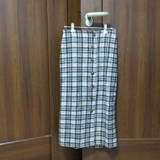 しまむら - チェック柄 冬用生地であったかスカート 未使用☆