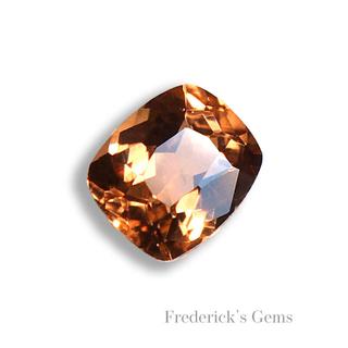 神秘のオレンジ色 0.27ct 希少石 天然 トリプライト ルース(リング(指輪))