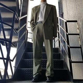 JOHN LAWRENCE SULLIVAN - ヴィンテージ セットアップ ダブルスーツ カーキ ベージュ
