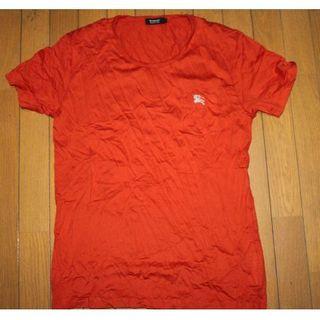 BURBERRY BLACK LABEL - バーバリーブラックレーベル Tシャツ(オレンジ)