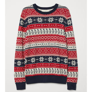 H&M - H&M クリスマス ニット セーター L