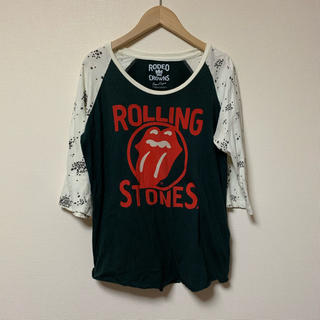 RODEO CROWNS - RODEO CROWNS♡Rolling StonesプリントラグランTシャツ