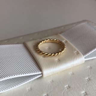 ティファニー(Tiffany & Co.)のTIFFANY & Co. ツイストナローリング k18  7.5号(リング(指輪))