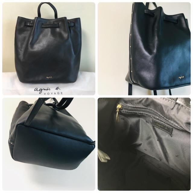 agnes b.(アニエスベー)のagnesb アニエス  レザー 牛革 リュック レディースのバッグ(リュック/バックパック)の商品写真