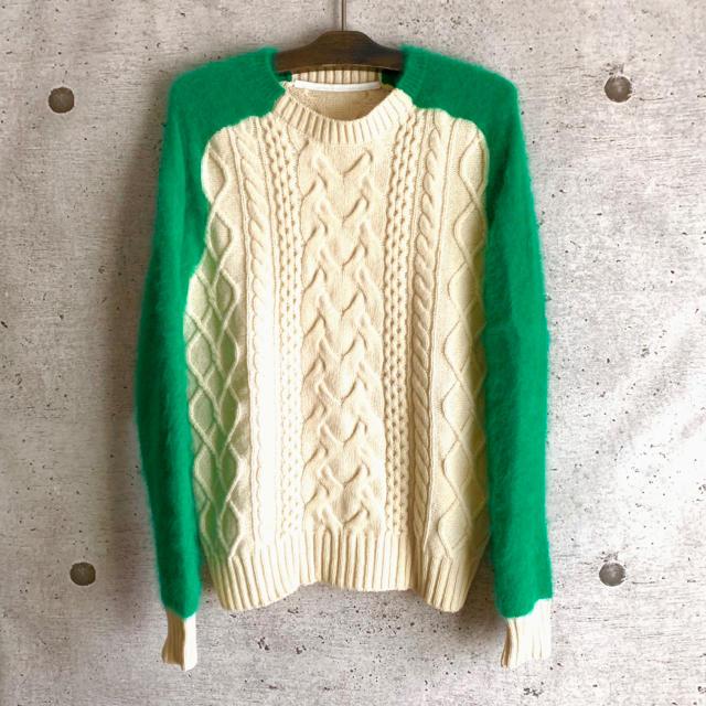 sacai(サカイ)の美品 sacai サカイ ニット セーター ウール s カラー kolor メンズのトップス(ニット/セーター)の商品写真