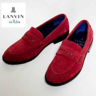 ランバンオンブルー(LANVIN en Bleu)の《ランバン》新品 ビジカジ対応 スエード ローファー Mサイズ(26cm)(ドレス/ビジネス)