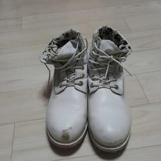 ティンバーランド(Timberland)のティンバー ブーツ ホワイト 白 ドクロ(ブーツ)