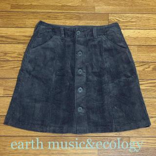 アースミュージックアンドエコロジー(earth music & ecology)のearth コーデュロイミニスカート Sサイズ(ミニスカート)