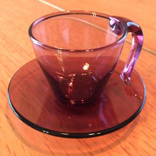 スガハラ(Sghr)のスガハラ ガラス コーヒーカップ&ソーサー(グラス/カップ)