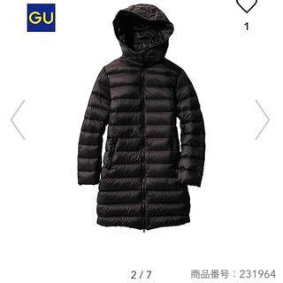 GU - ジーユー ライトダウンジャケット ブラック Mサイズ