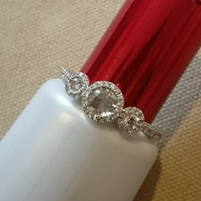 K18WG ローズカット ダイヤモンド リング 0.21 0.3ct レディースのアクセサリー(リング(指輪))の商品写真