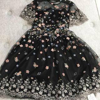 Lily Brown - フラワー刺繍ワンピース