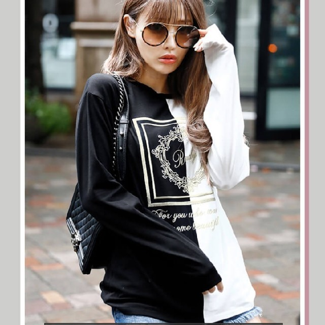 Rady(レディー)の【今季】バイカラーホテルシリーズロンT レディースのトップス(Tシャツ(長袖/七分))の商品写真