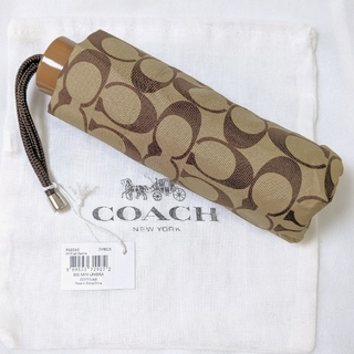 COACH - COACH コーチ 折畳み傘 シグニチャー F63365