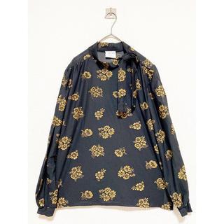 COMME des GARCONS - vintage ヴィンテージ 刺繍 花柄 ハイネック デザイン 変形 トップス