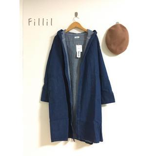 merlot - 【新品】Fillil シンプルデニムコート