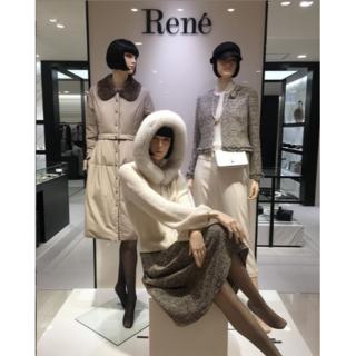 René - 2018Reneルネ受注会コペンハーゲンファーFOXカシミヤパーカー18万円