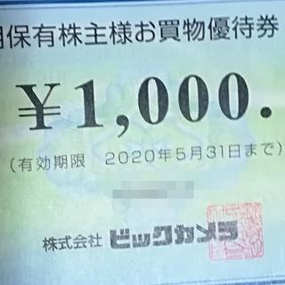 ビックカメラ 優待券 クーポン付(ショッピング)