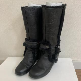 センソユニコ(Sensounico)のセンソユニコ ロングブーツ ボアブーツ 24 ブラック(ブーツ)