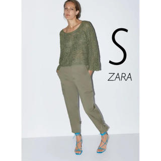 ザラ(ZARA)の【新品・未使用】ZARA クロシェ編み ニット セーター S(ニット/セーター)