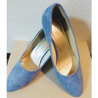 【靴】走れるパンプス 5.5cm スモーキーブルー(ハイヒール/パンプス)