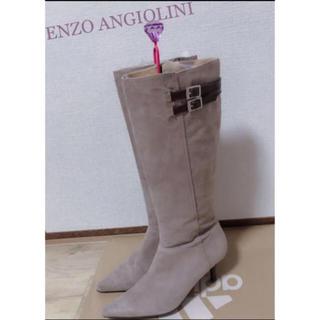 エンゾーアンジョリーニ(Enzo Angiolini)のスウェード ロングブーツ (ブーツ)